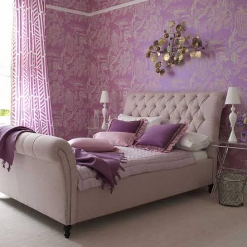 Интерьер спальни обои дизайн спальни